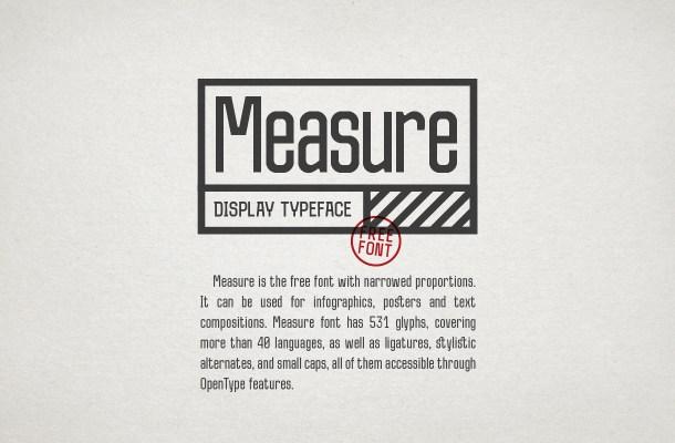 Measure Font Free