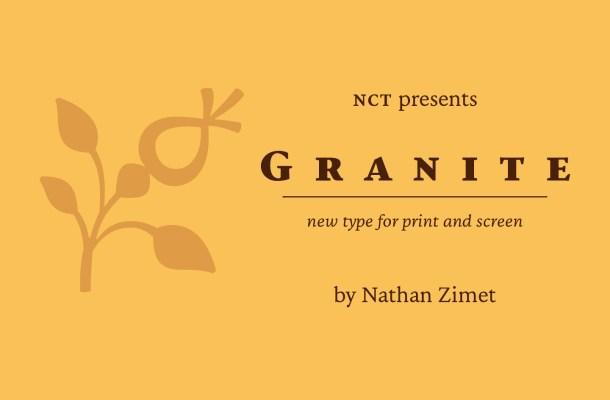 NCT Granite Free Serif Font