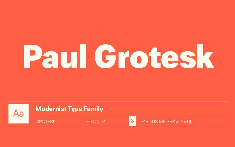 Paul Grotesk Free Font - Free Fonts
