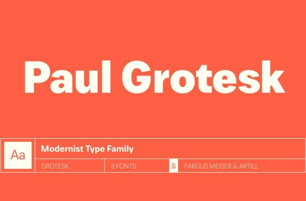 Paul Grotesk Free Font