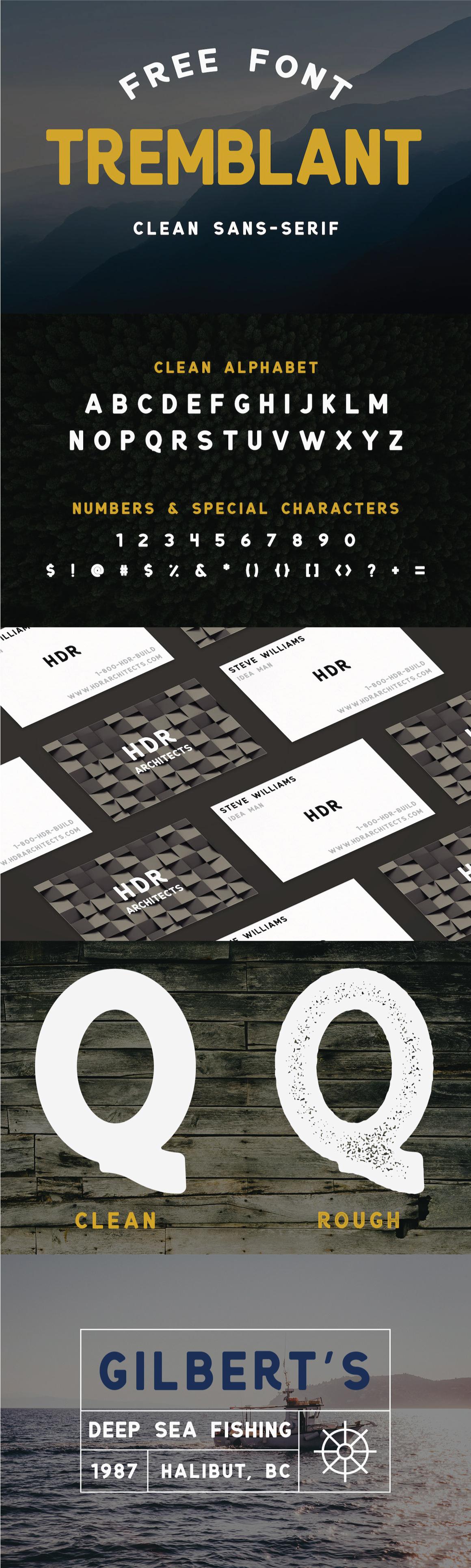 tremblant free font