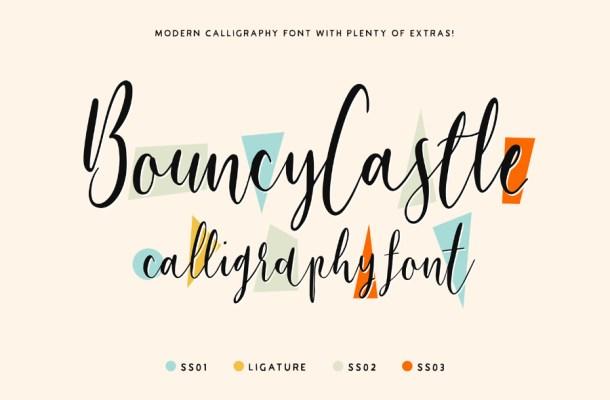 Bouncy Castle Font Family