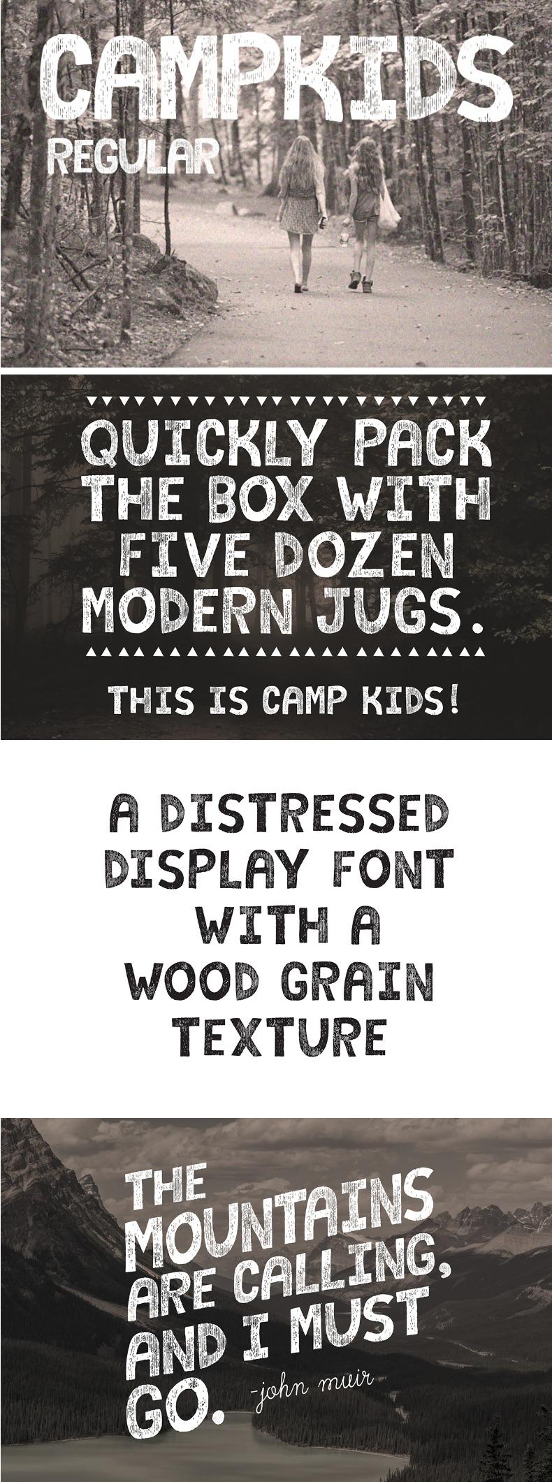 Camp Kids Free Font