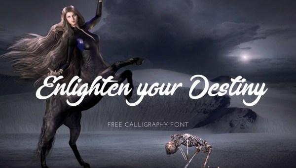 Enlighten your Destiny Font Free