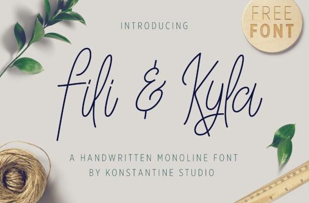 Fili & Kyla Monoline Script Font