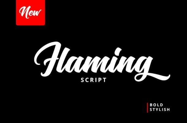 Flaming Script Font