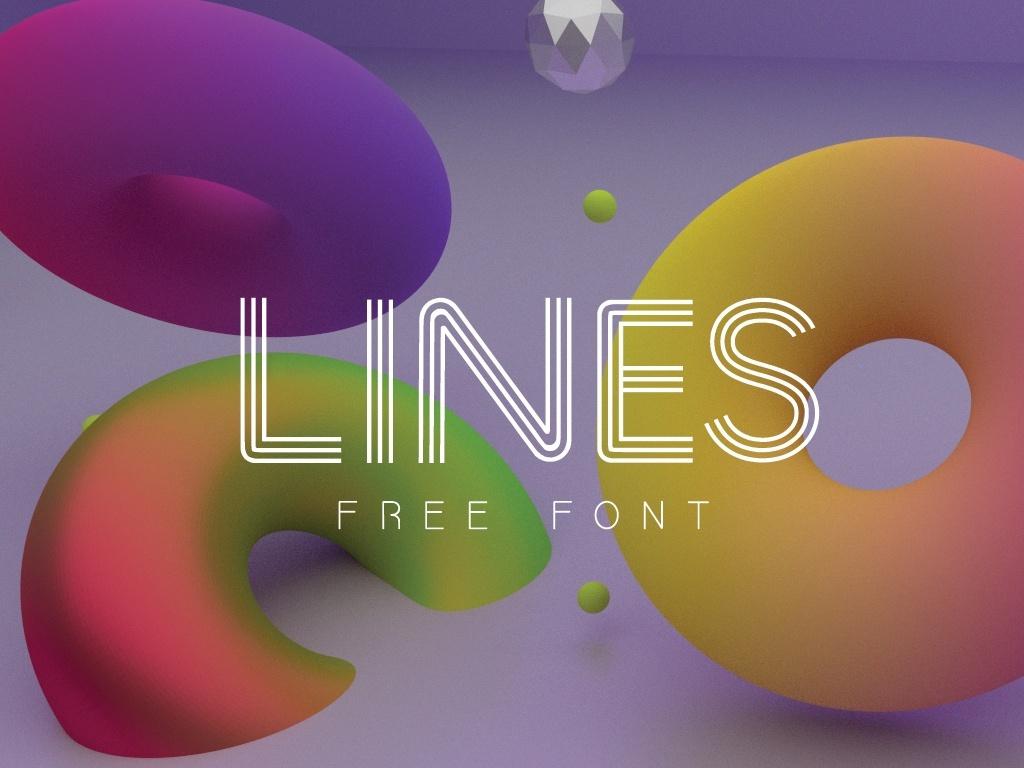 LINES FONT