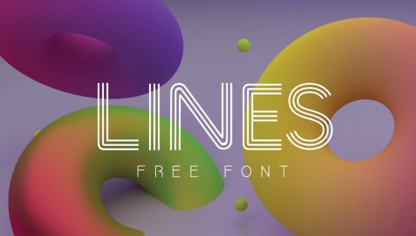 LINES Font Free