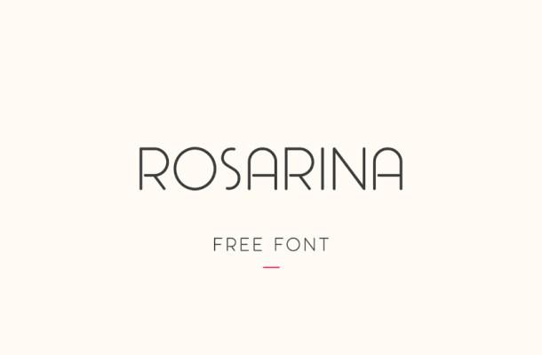 Rosarina Sans Font Free