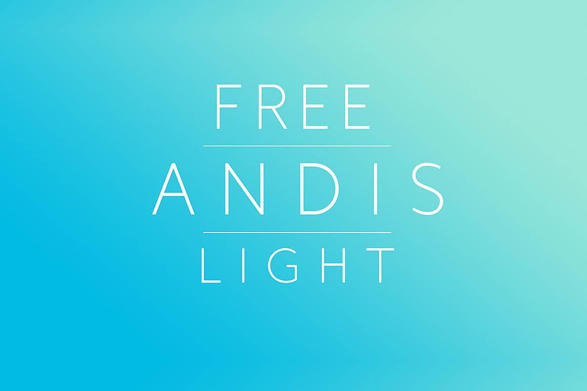 andis-light-free-font