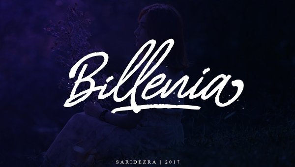 Billenia Script Font
