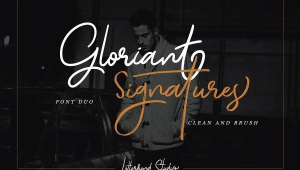 Gloriant Signature Script Font