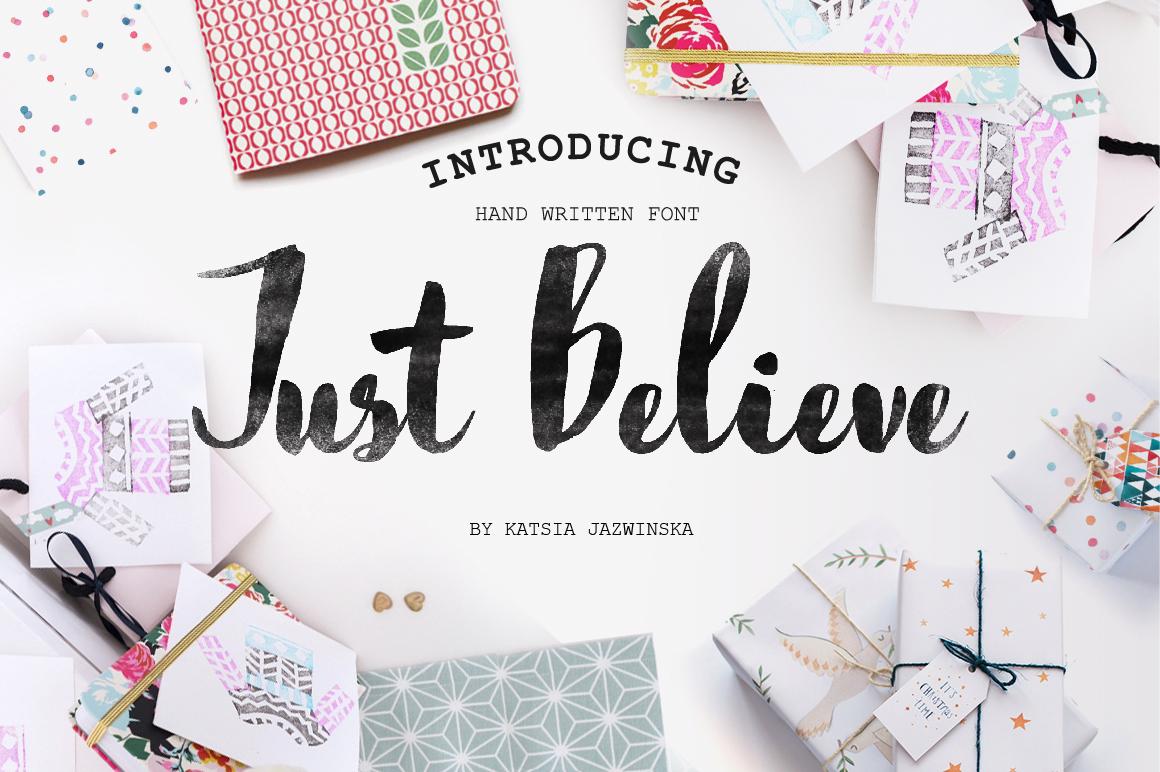 just-believe-font