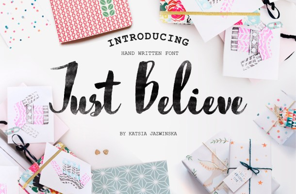 Just Believe Font