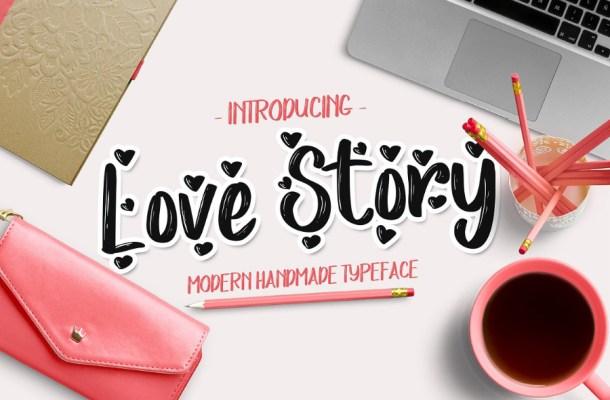 Love Story Script Font