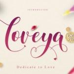Loveya Script Font