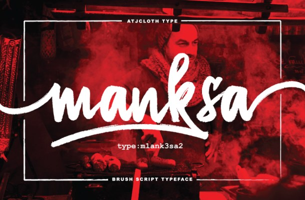 Manksa Brush Font