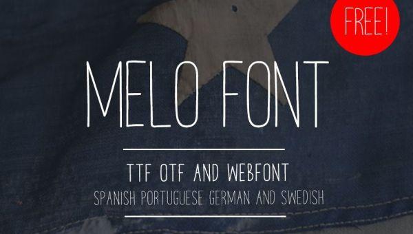 Melo Handwriting Font