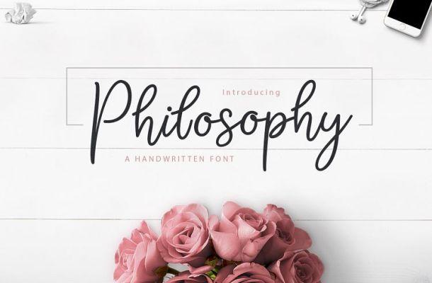 Philosophy Script Font