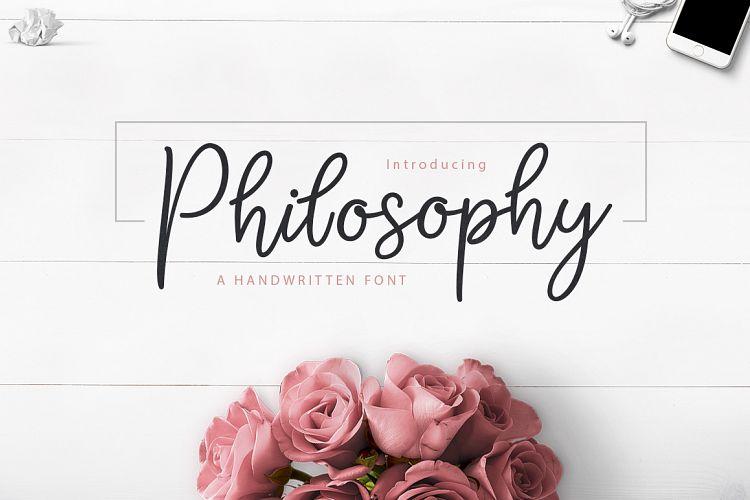 philosophy-script-font