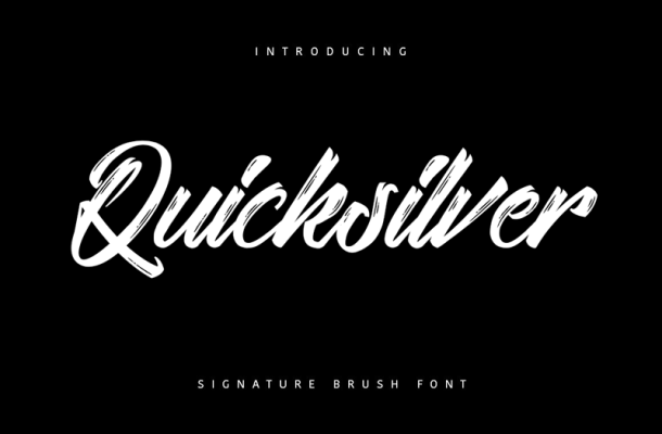 Quicksilver Brush Font Free