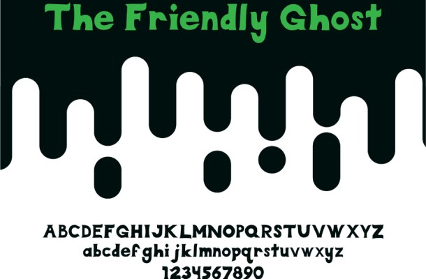 The Friendly Ghost Free Font