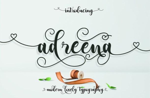 Adreena Script Free Font
