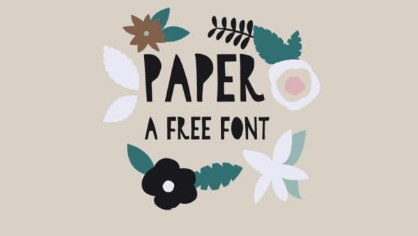 Paper Cutout Font