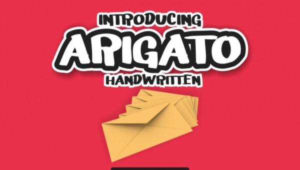 Arigato Display Font