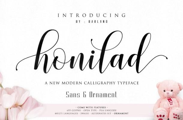 Honilad Script Font