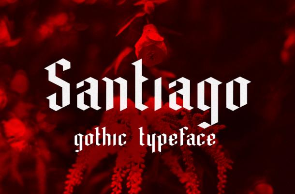 Santiago Black Letter Typeface