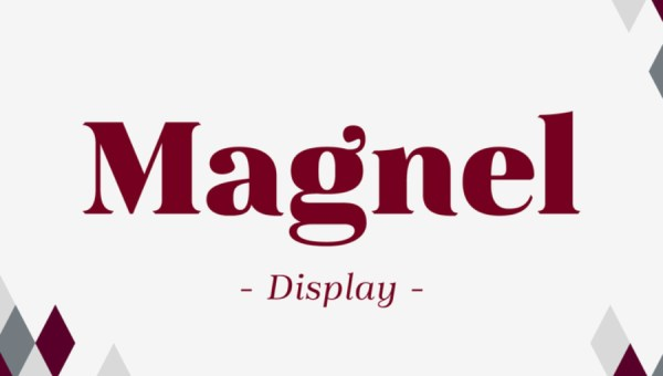 Magnel Display Font