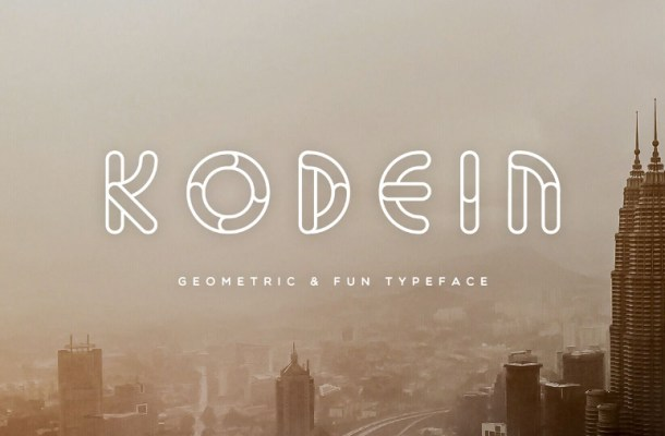 Kodein Geometric Font