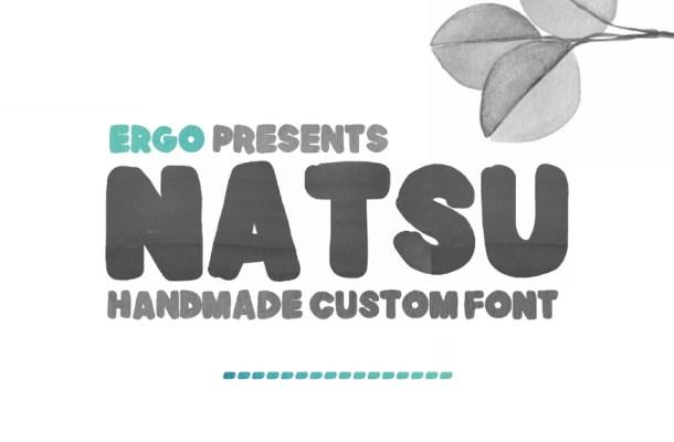 Natsu Handmade Free Font