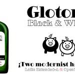 Glotona Black White Font