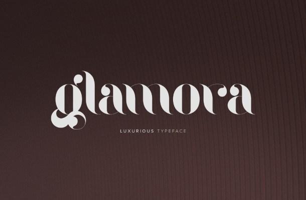 Glamora Stencil Free Font