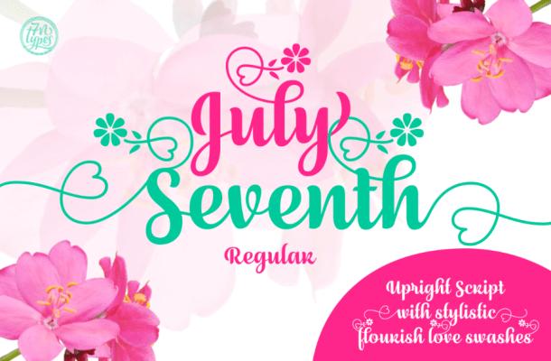 July Seventh Script Free Font