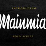 Mainmia Free Bold Script