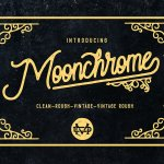 Moonchrome Typeface