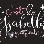 C'est La Isabelly Script Free Font