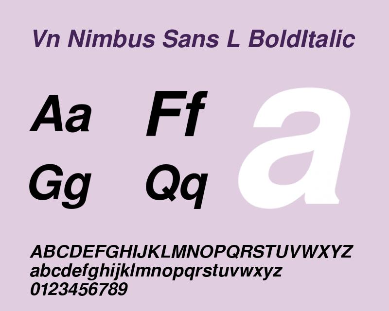 Nimbus-Sans-L bold italic