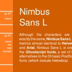 Nimbus Sans L Font Family