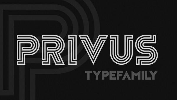Privus Display Font