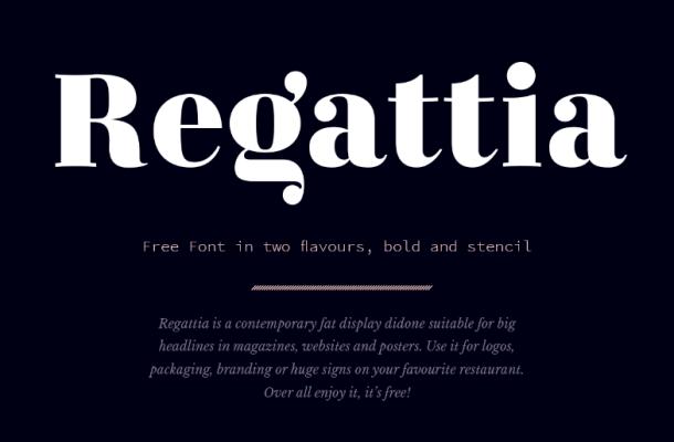 Regattia Bold Font