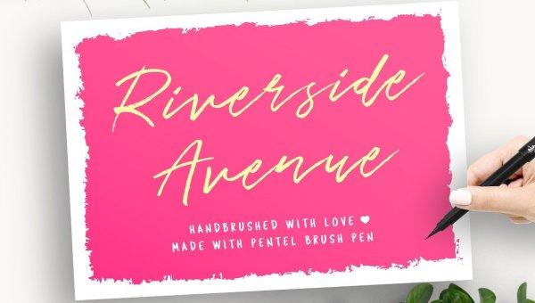 Riverside Avenue Script Font