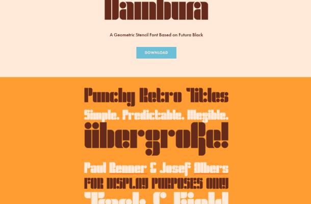 Dambura Stencil Free Font
