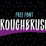 Roughbrush Display Font