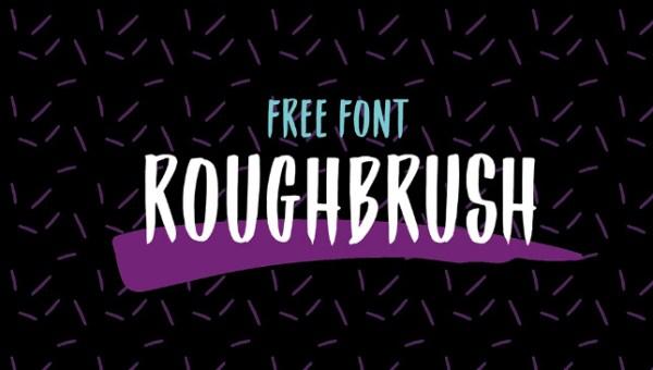 Roughbrush Display Font