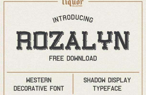 Rozalyn Shadow Font