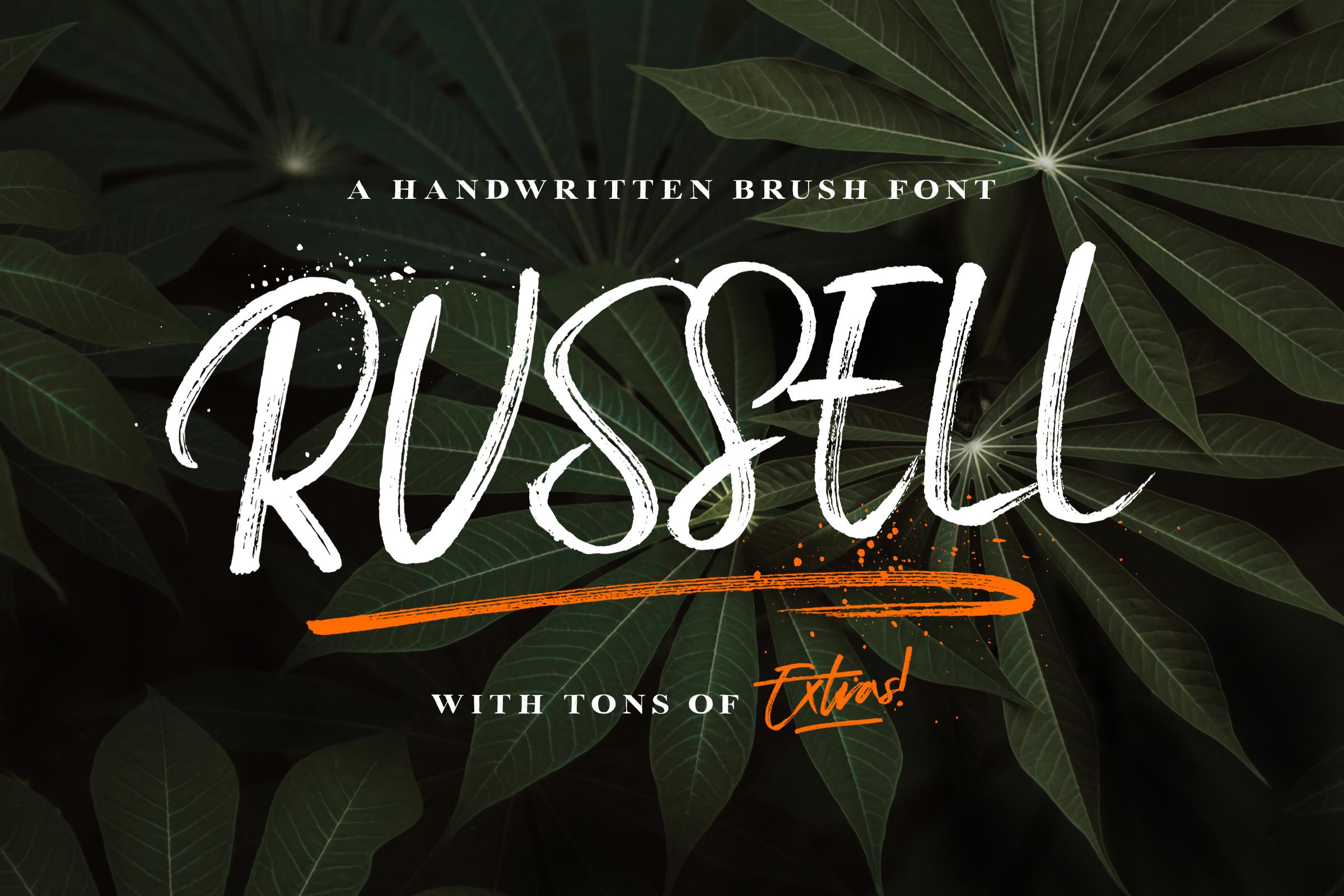 Russell-Brush-Script-Font-a